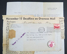 Antiker Vote Button Railway USA Pin Damaged Envelope Newspaper 1949 US (Lot 6370