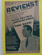#) partition REVIENS - Tino Rossi Janette MacDonald Alice Delysia
