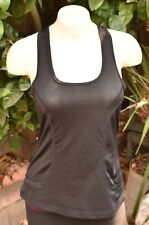 LULULEMON ATHLETICA VINTAGE SILVERSCENT BLACK TANK TOP US WOMEN'S SZ 4