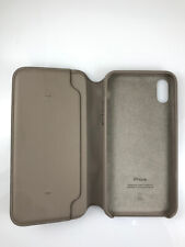 Original Genuine Apple Folio Leather Case wallet card holder for iPhone X Taupe