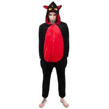 Killstar Unisex Onesie - King Beleth Gothic Overall Pyjama Kostüm Katze Okkult