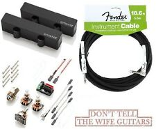 EMG JHZ SET BLACK JAZZ BASS PASSIVE PICKUPS (FENDER 18') Fender Replacement J HZ