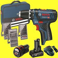 Bosch Tournevis à Batterie GSR 12V-15 1x 2,0+1x 4,0 Ah Batterie + Sac Visseuse