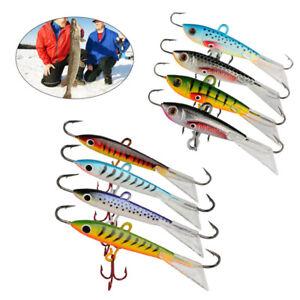 Goture 4pcs Ice Fishing Jigs Fishing Lures Minnow Hard Artificial Bait Hook Bass