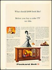 1966 Packard Bell TV Television console Vintage Advertisement Print Art Ad J101