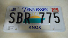 2006 Tennessee license plate SBR775