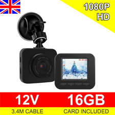 Truck or Car Dash Cam 12V Crash Camera 1080P HD with 16GB Card