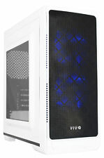 "VIVO ""SMART"" Micro-ATX Tower Computer Gaming PC Case White 5 Fan Mounts, USB 3.0"