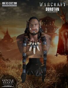 SDCC 2016 Gentle Giant Exclusive: World of Warcraft - Durotan Mini Bust, NEW