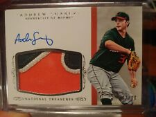 2015 National Treasures Collegiate Multisport #385 Andrew Suarez Auto Jersey /99