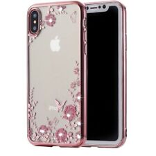 Iphone X case Diamond With Pink flower