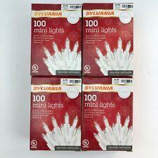 (4) Boxes Of Sylvania Clear 100 Mini Lights - NIB