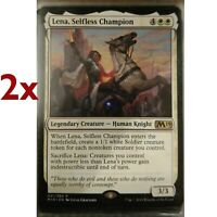 Foil Core Set 2019 magicmtg Selfless Champion 4x NM-Mint English Foil Lena