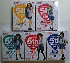 Banpresto@ K-ON!! 5th ANNIVERSARY SQ 5 Figure Full =Yui+Azusa+Mio+Ritsu+Tsumugi