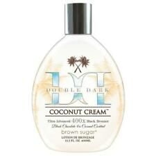 Brown Sugar Double Dark Coconut Cream 400X Black Bronzer Tanning Lotion 13.5 oz