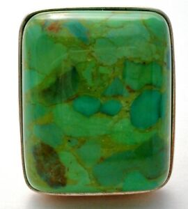 JAY KING GREEN TURQUOISE RING STERLING SILVER DTR MINE FINDS Size 7 GEMSTONE