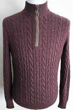 $1715 NEW LORO PIANA Mezzocollo Treccia Baby Cashmere Light Sweater 52 Medium