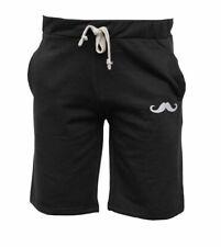 Nuevo Bigote Pantalones Cortos Liso Hombre Casual de Algodón Polar Pequeña A 2XL