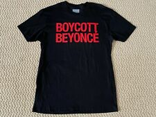 New Authentic Beyonce Formation World Tour Merch Boycott Black Red Tee Shirt M