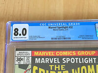 Marvel Spotlight 32 CGC 8.0 Fresh Slab! 1st App of Spider Woman Jessica Drew