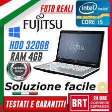 """*PC NOTEBOOK PORTATILE FUJITSU LIFEBOOK S751 14"""" CPU i5 4GB RAM 320GB HDD +WIN10"""