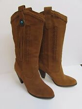 Reba Size 8.5 Tan Suede Leather Boots New Womens Shoes