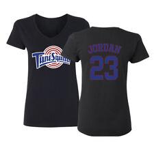 6c6506dd8b6f0e Tunesquad Michael Jordan  23 Space Jam Womens V-Neck T-Shirt