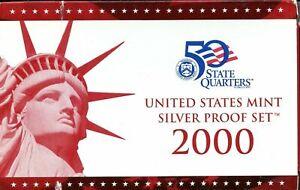 2000-S US Silver Proof Mint Set 10 Coins 20uott1118