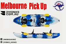 Fishing Kayak Canoe 2.5 persons Double Family 3.7M Melbourne Blue & White