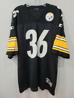Rare VTG Starter NFL Pittsburgh Steelers JEROME BETTIS 36 Jersey Mens 52 XL Bus