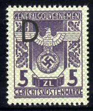 462-GERMAN EMPIRE-Third reich.WWII.GENERALGOUVERNEMENT NAZI Court REVENUE MNH**