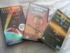 Set of 3 Star Trek feature Films on VHS, All good condition, sci fi/aliens/space
