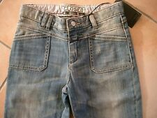 (c702) Cool closed Girls Dirty look usado pantalones vaqueros con ligero golpe gr.140