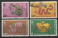 HONG KONG QE11 1989 YEAR OF THE SNAKE SET USED