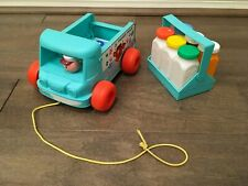 Fisher Price Retro Milk Wagon Pull Toy Truck Delivery Complete