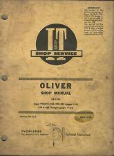 Iampt Oliver Series Super 990mtc 950 990 995 770 880 No O 13 Tractor Shop Manual