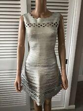 Herve Lerger 100% Genuine XS UK6 Silver Bandage Dress worn once  perfect conditi