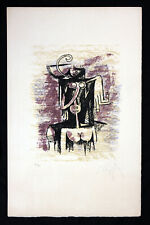 Rare Wilfredo Lam Hand Signed and Numbered Original Lithograph, Cuban Latin Art