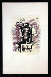 Rare Wilfredo Lam Hand Signed and Numbered Original Lithograph, Cuban Latin Art