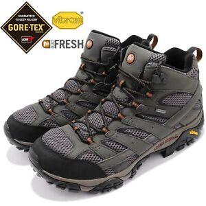 Merrell Moab 2 Mid Gore-Tex Vibram Grey Black Men Outdoors Trail Shoes J06059