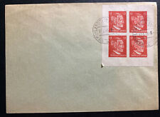 1945 Hohllenstein Germany Postwar OSS Forgery Cover Stamp Block