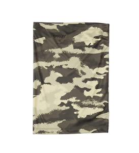 New Oakley Hydrolix Neck Gaiter Face Cover Mask Shield Painted Green Camo L/XL