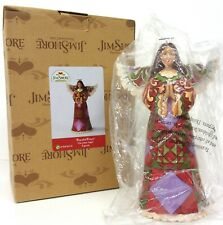 JIM SHORE Peaceful Prayer Figurine Angel Quilt Pattern Red Purple Green BOX