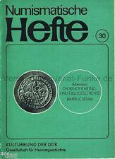 Numismatische Hefte 30 Jahrbuch Thüringer Münzen Geldgeschichte 1986 Thüringen