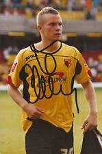 WATFORD: TOM CLEVERLEY SIGNED 6x4 ACTION PHOTO+COA