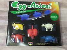 Vintage 5 Egg Animal Changers Transformers 1986 Store Vending Display Box