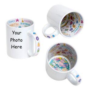 Personalised Photo Mug With Message Happy Birthday Inside