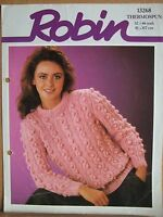 "Knitting Pattern 13268: Lady's Sweater 32-46"" (81-117 cm) Robin Thermospun"