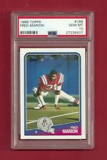 1988 TOPPS #188 FRED MARION PSA 10 GEM MINT POP 3 NEW ENGLAND PATRIOTS