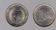 SAN MARINO MONETA FDC UNC DA 1 EURO € ANNO 2017 NUOVO TIPO DISEGNO DA SET ZECCA